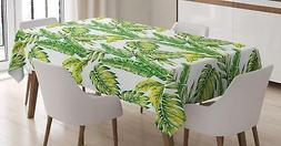 Tropical Leaf Tablecloth Ambesonne 3 Sizes Rectangular Table