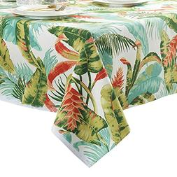 ColorBird Tropical Leaves Tablecloth Cotton Dust-proof Table