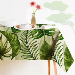 Tropical Plants Decorative Tablecloth Indian Style Green Col
