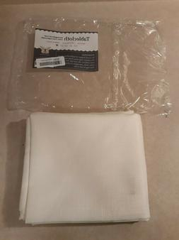 Turkish Ivory Tablecloth Polyester Table Linen