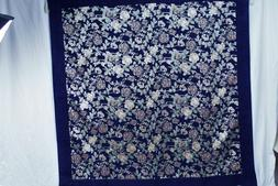 Turkish multi color flower thick cotton blend  tablecloth .