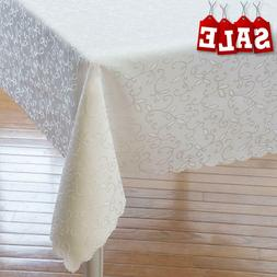 Turkish Tablecloth Stain Resistant Wrinkle Free Table Cover