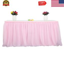 Tutu Tulle Table Skirt Cover Cloth for Baby Shower Wedding B