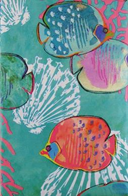 Under the Sea Abstract Vinyl Flannel Back Tablecloth