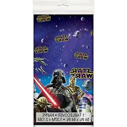 Unique Plastic Star Wars Table Cover, 84-Inch by 54-Inch