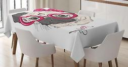 Urban Fabric Tablecloth Ambesonne 3 Sizes Rectangular Table