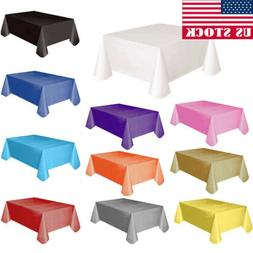 us large plastic rectangle table cover cloth