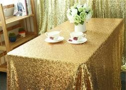 US Rectangular Sequin Tablecloth Table Cloth Wedding Party E
