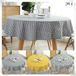 us round colorful table cloth cotton linen