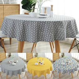 NEW Round Colorful Table Cloth Cotton Linen Household Garden