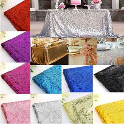 US Sequin Glitter Tablecloth Sparkly Table Cloth Cover Recta