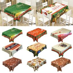 US Table Cloth Rectangle Oblong Tableware Table Cover Festiv