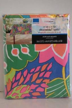 vinly tablecloth 60x84 rectangle tropical bright colors