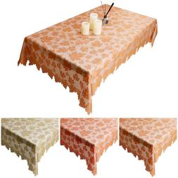 Vintage Lace Rectangle Table Cloth Fall Autumn Thanksgiving