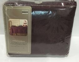 vintage table cloth woodland holiday 60x120 burgundy