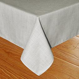 Eforcurtain Vintage Tablecloth Durable Linen Table Cover for