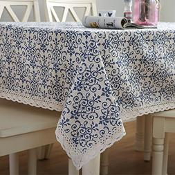 Famibay Vintage Square Tablecloth,Everyday Kitchen Table clo