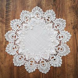Vintage White Lace Tablecloth Round Table Cloth Cover Home K