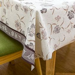 Vinyl Oilcloth Tablecloth Rectangle Water Resistant/Oil-proo