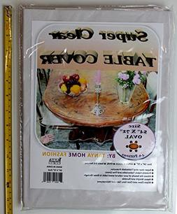 100% Vinyl Super Clear and Durable Tablecloth Protector Size