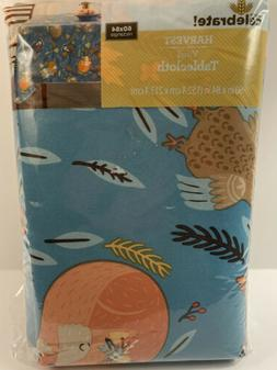 Vinyl Tablecloth 60x84 Harvest Fox with Friends Theme