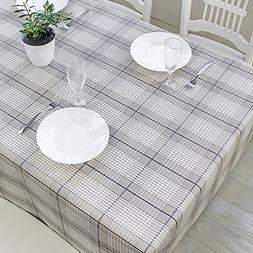 DuoFire Vinyl Tablecloth Square Wipe Clean Table Cover Water
