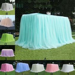 Tulle Tutu Table Cloth Table Skirt Cover Tablecloth Wedding