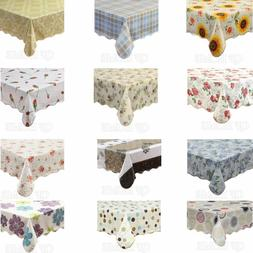 Waterproof Vinyl Tablecloth with Flannel Backed Rectangle/Ob