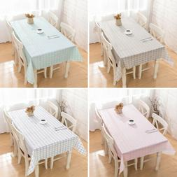 Waterproof Tablecloth Living Room Kitchen Oilproof Grids Pri