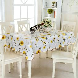 Waterproof Oil Proof PVC Table Cloth Cover Home Dining Table