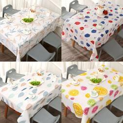 Waterproof Oil Proof Table Cloth Home Kitchen Decorative Din