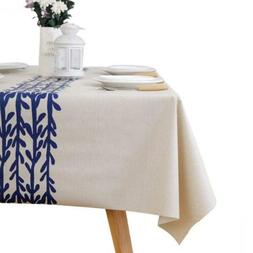 LEEVAN Heavy Weight Vinyl Rectangle Table Cover 54x54 inch,