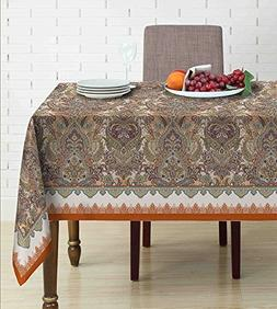 LeeVan Waterproof Tablecloth Rectangle Table Linen for Kitch