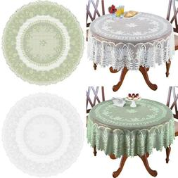 White Cream Lace Home Kitchen Table Cloth Tablecloth Round O