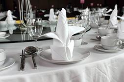 Atlas 96 pieces White Dinner Napkins for Banquets & Restaura