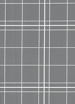 White Lines Flannelback Vinyl Tablecloth in Gray, 60x84 Oblo