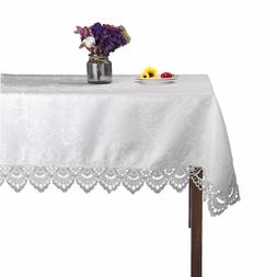 White rectangle lace tablecloths for wedding party home and