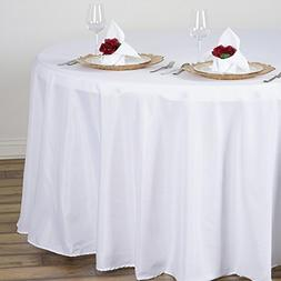 white round polyester tablecloth
