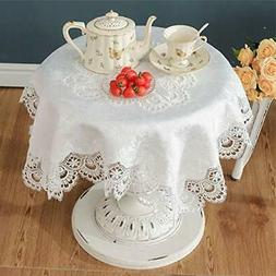 White small square lace tablecloth for wedding party home an