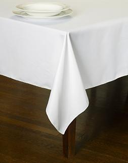 Chesna trade; White Table Linen 60 X 102 Inch Polyester Wash