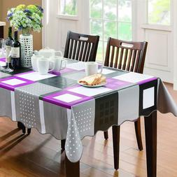 wipe clean table cloth pvc tablecloth dining
