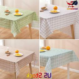 Wipe Clean Tablecloth Waterproof Table Cloth Cover Protector
