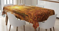 Woods Tablecloth Ambesonne 3 Sizes Rectangular Table Cover D