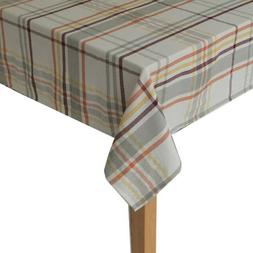 Food network woven 60x102 inch, oblong, plaid table cloth.
