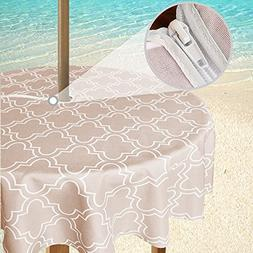 eforgift Wrinkle Resistant Water Free Zipper Tablecloth with