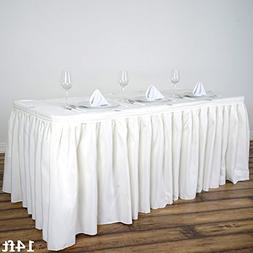 x ivory polyester banquet table