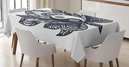 Yin Yang Tablecloth Ambesonne 3 Sizes Rectangular Table Cove