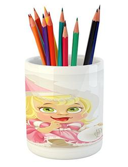 zodiac virgo pencil pen holder